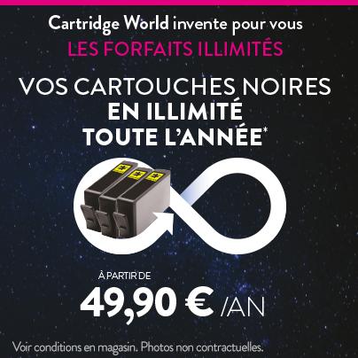 Vos cartouches Noires en illimité toute l'année - Cartridge World Metz
